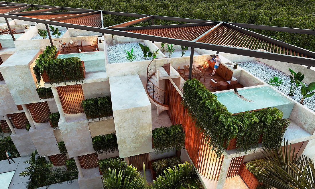 Penthouse with private pool in Playa del Carmen