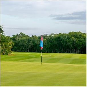 Golf course and private beach club