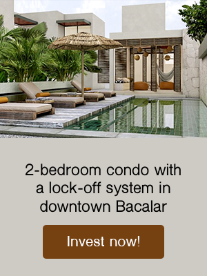 condos with lock-off system for sale in bacalar