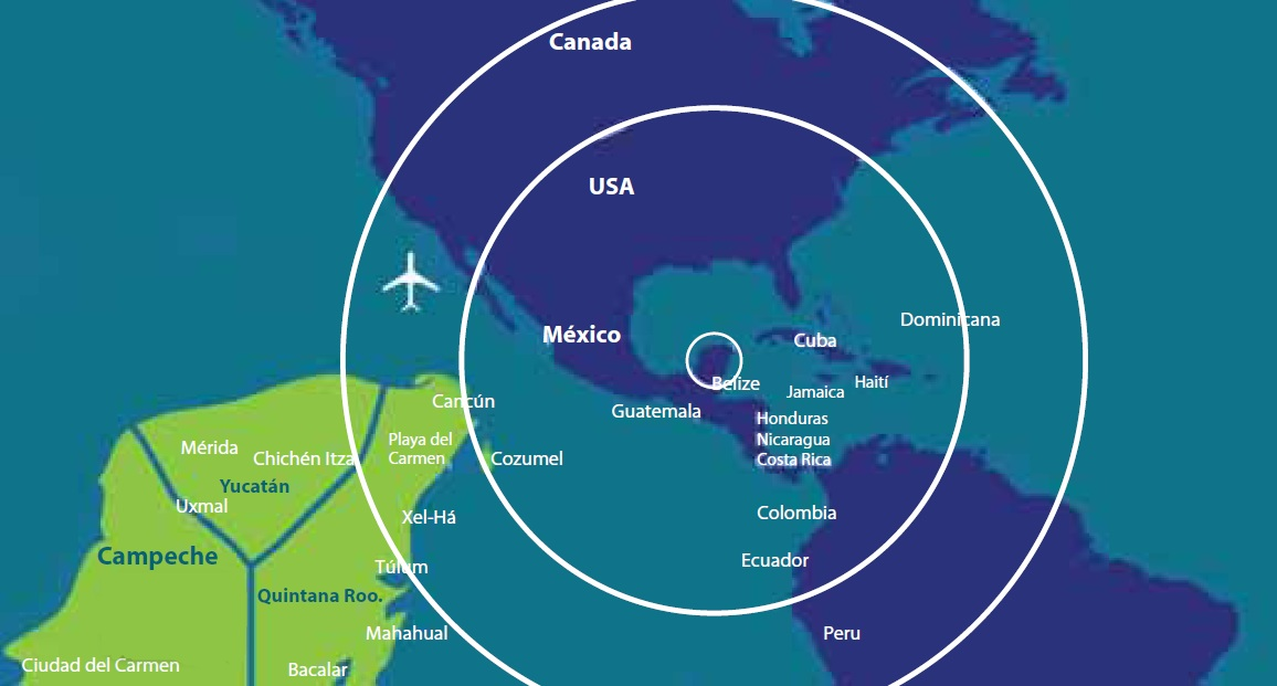 Campeche Beachfront map